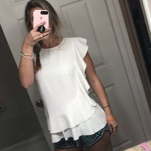 White Ann Taylor Blouse. Like-New Condition